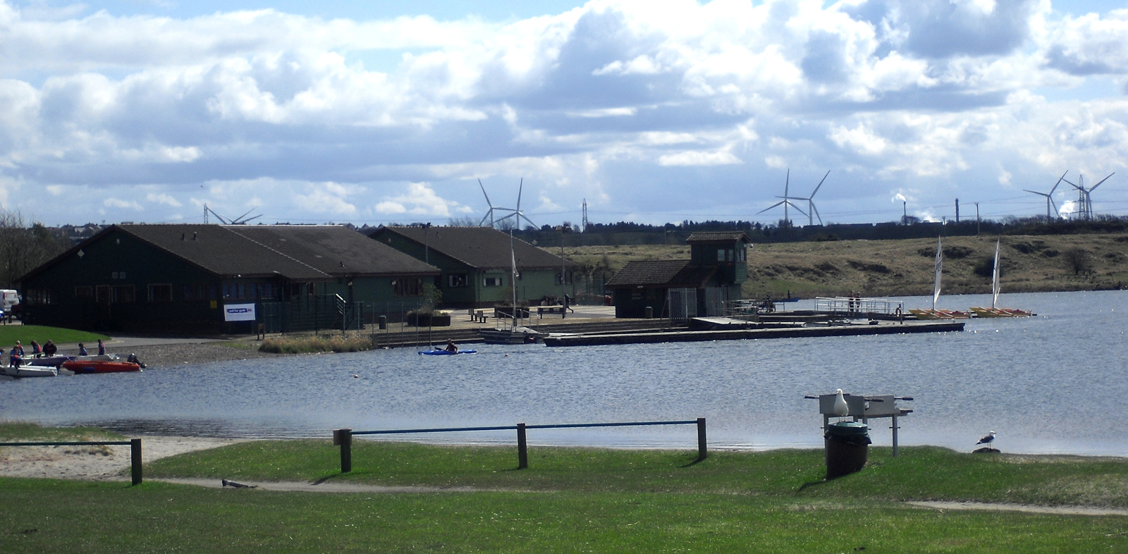 View towards Little Raith Wind Farm