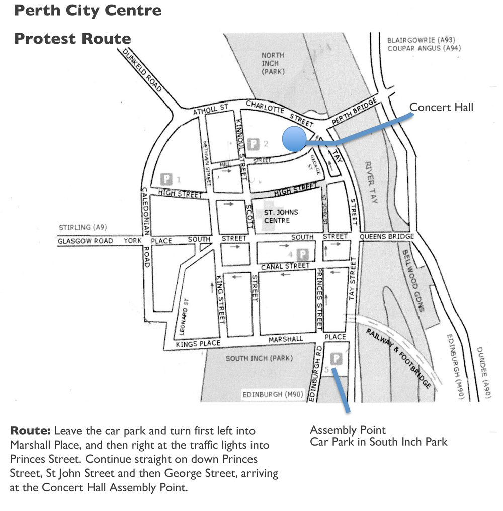 Protest - Route Map