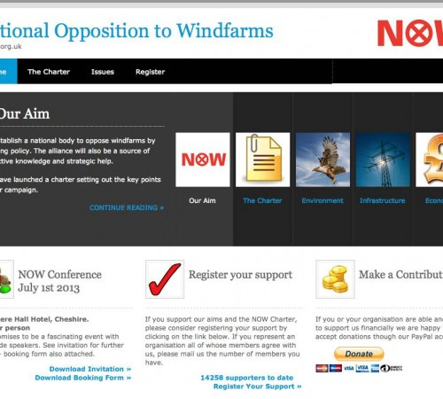 National Opposition to Windfarms